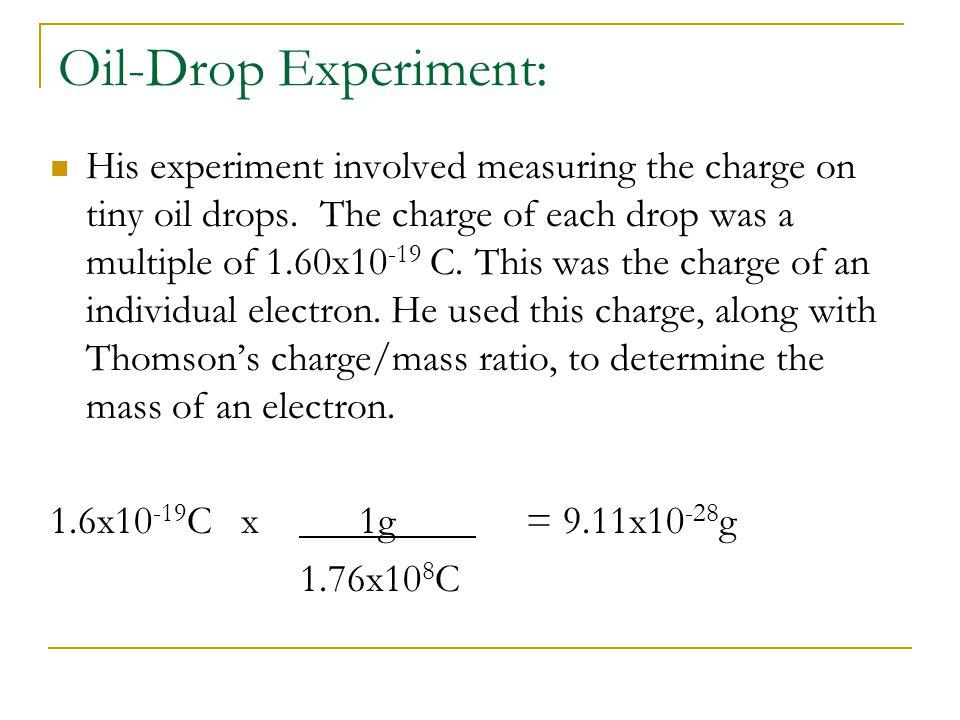 Oil-Drop Experiment: