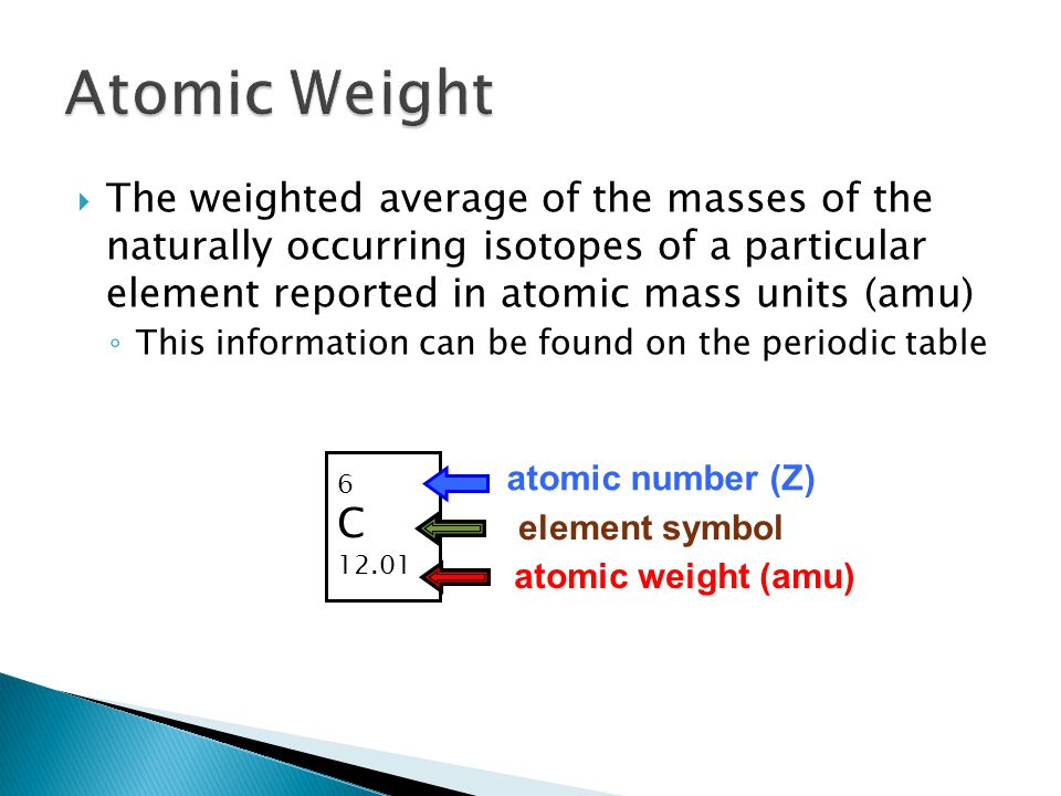 Atomic mass unit periodic table urtaz Gallery