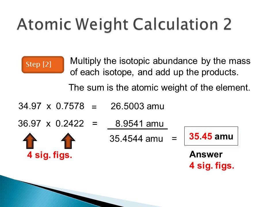 Atomic Weight Calculation 2