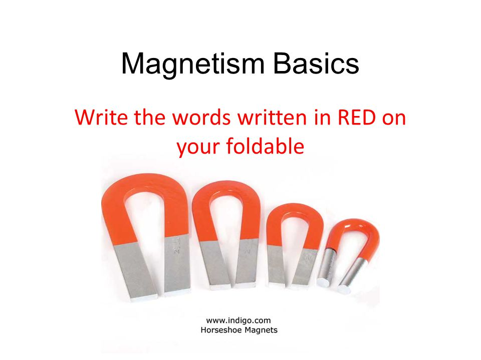 Write the words written in RED on your foldable