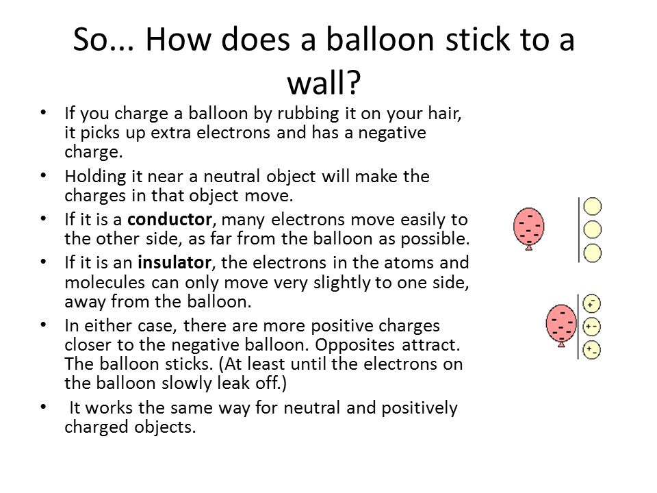 So... How does a balloon stick to a wall