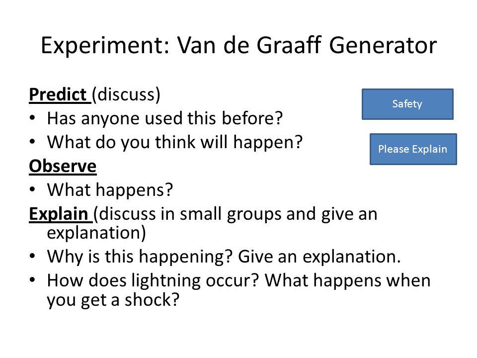 Experiment: Van de Graaff Generator
