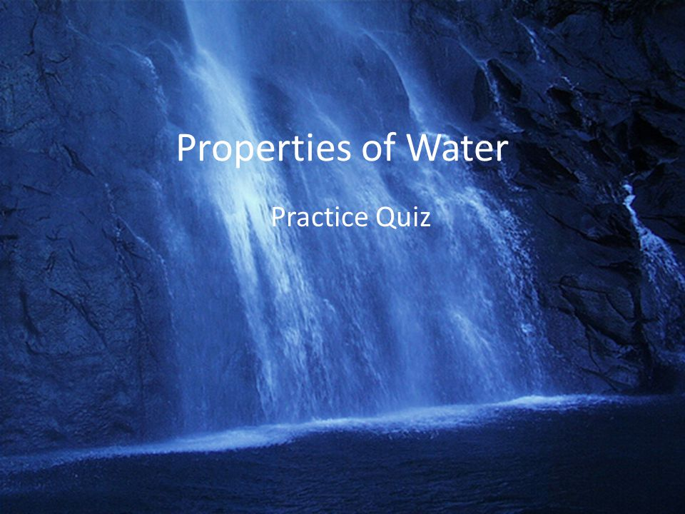three properties of water essay Matter and its properties essay water is an example of a compound because it is one of many compounds that consist the three common states of matter are.