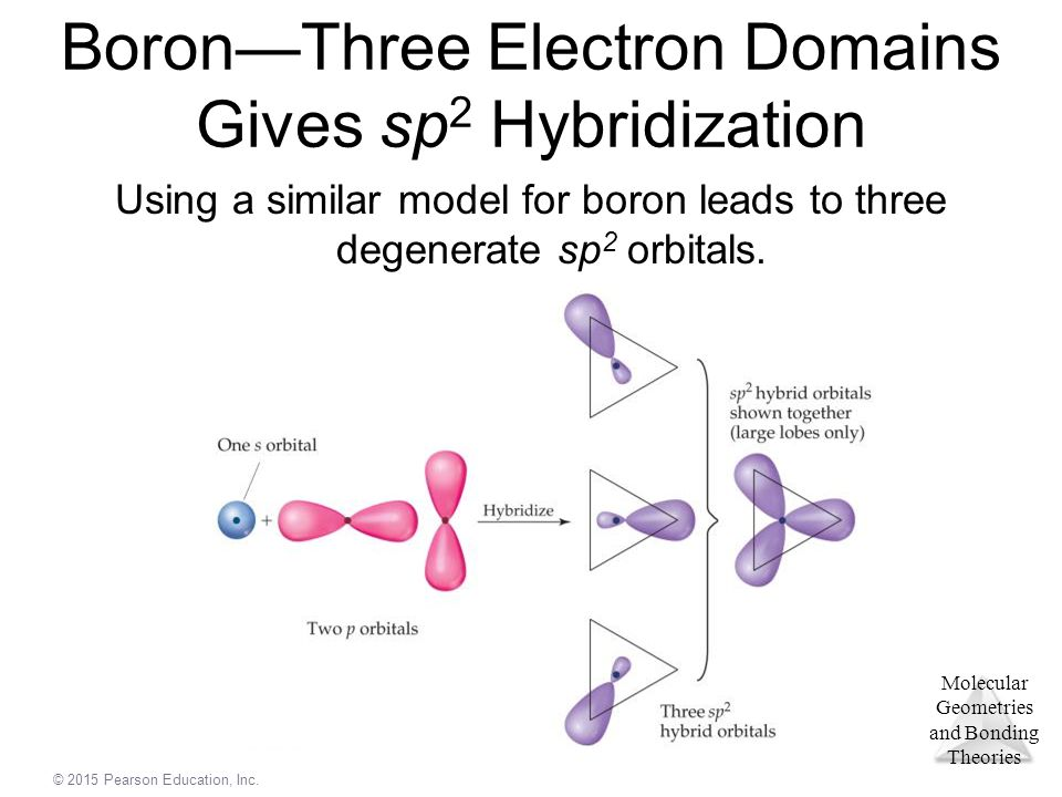 Boron—Three Electron Domains Gives sp2 Hybridization