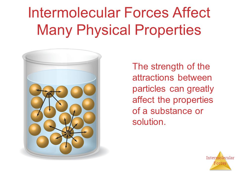Intermolecular Forces Affect Many Physical Properties