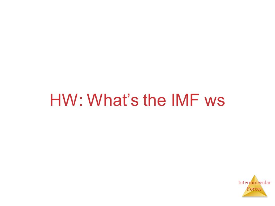 HW: What's the IMF ws