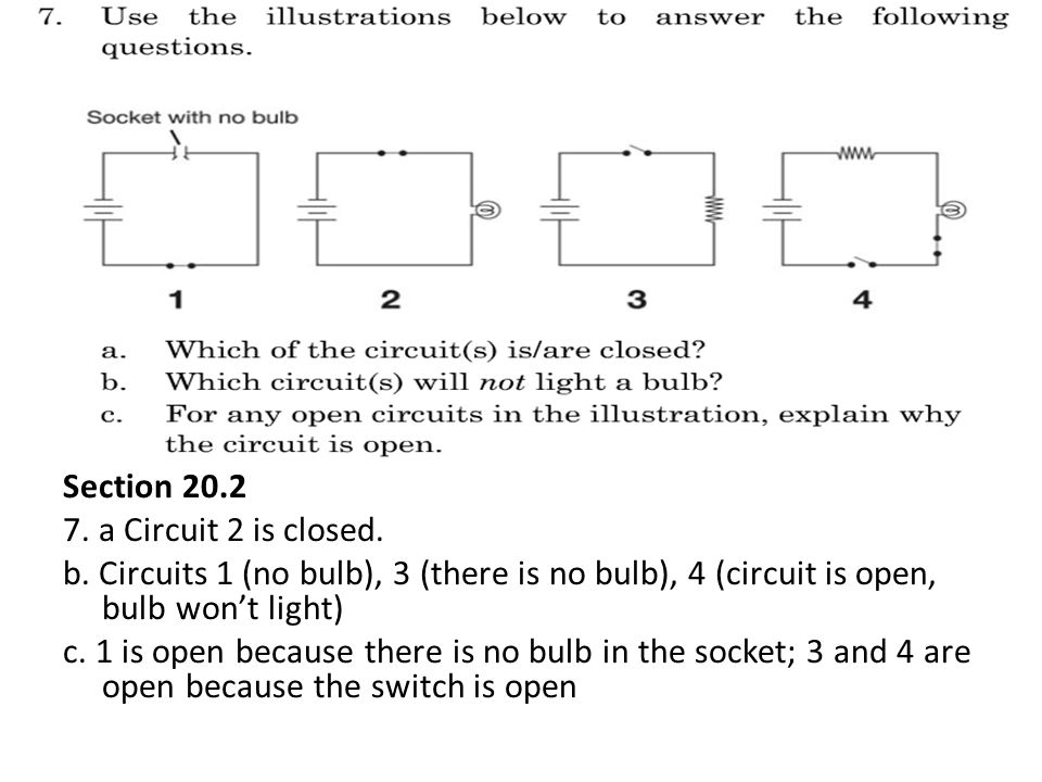 Section 20. 2 7. a Circuit 2 is closed. b