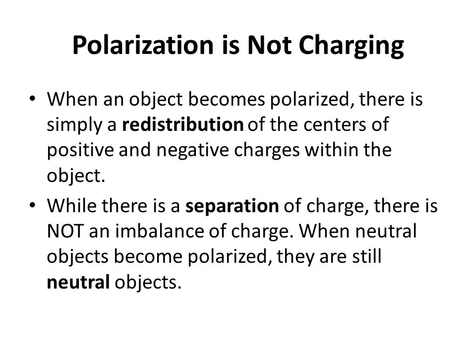 Polarization is Not Charging