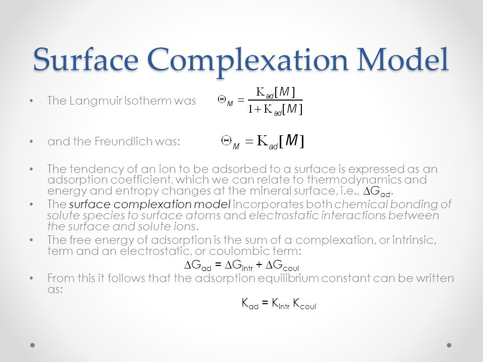 Surface Complexation Model