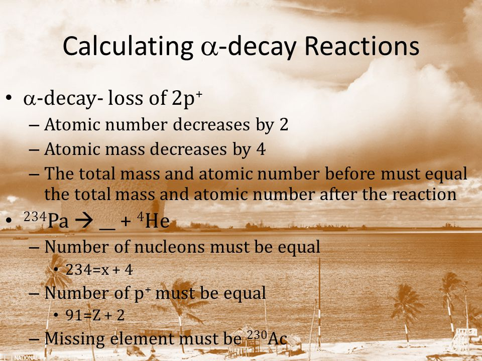 Calculating a-decay Reactions