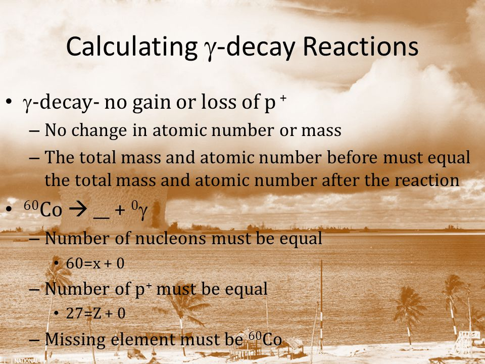 Calculating g-decay Reactions