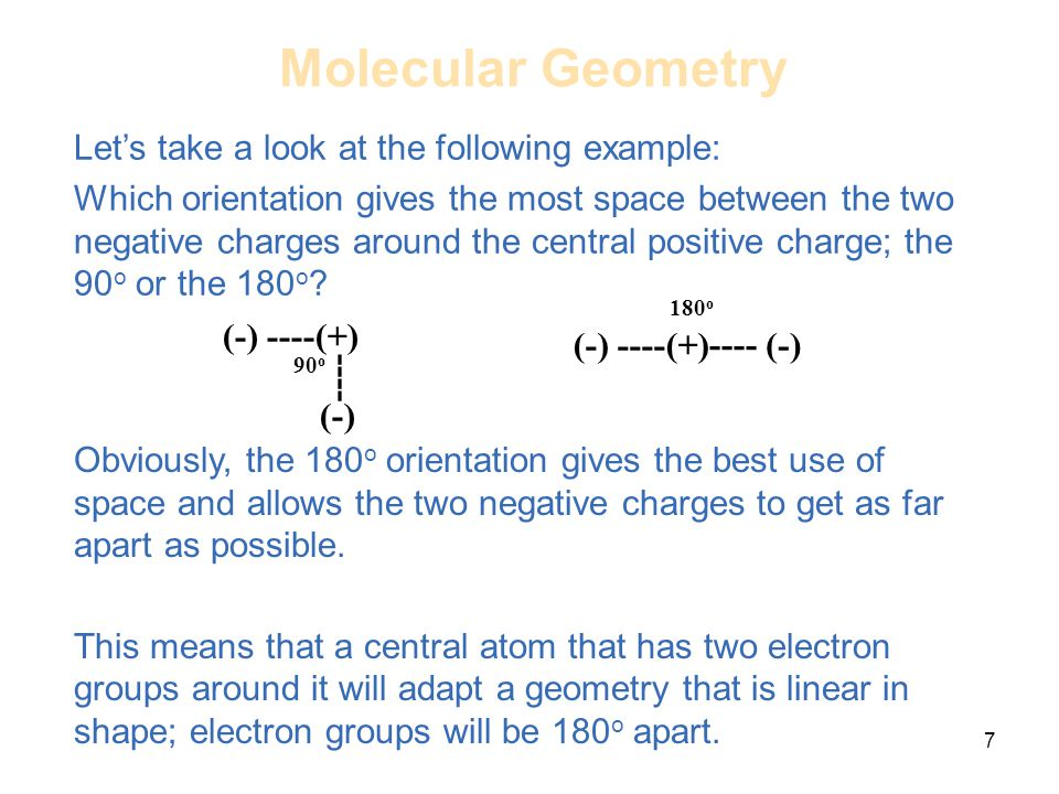 Molecular Geometry Let's take a look at the following example: