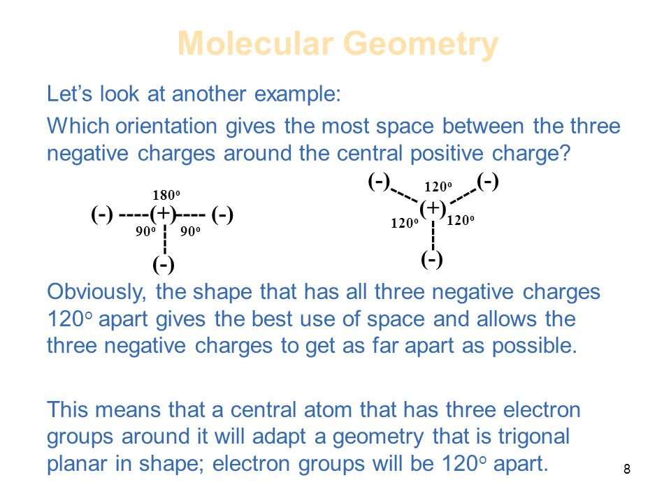 Molecular Geometry Let's look at another example: