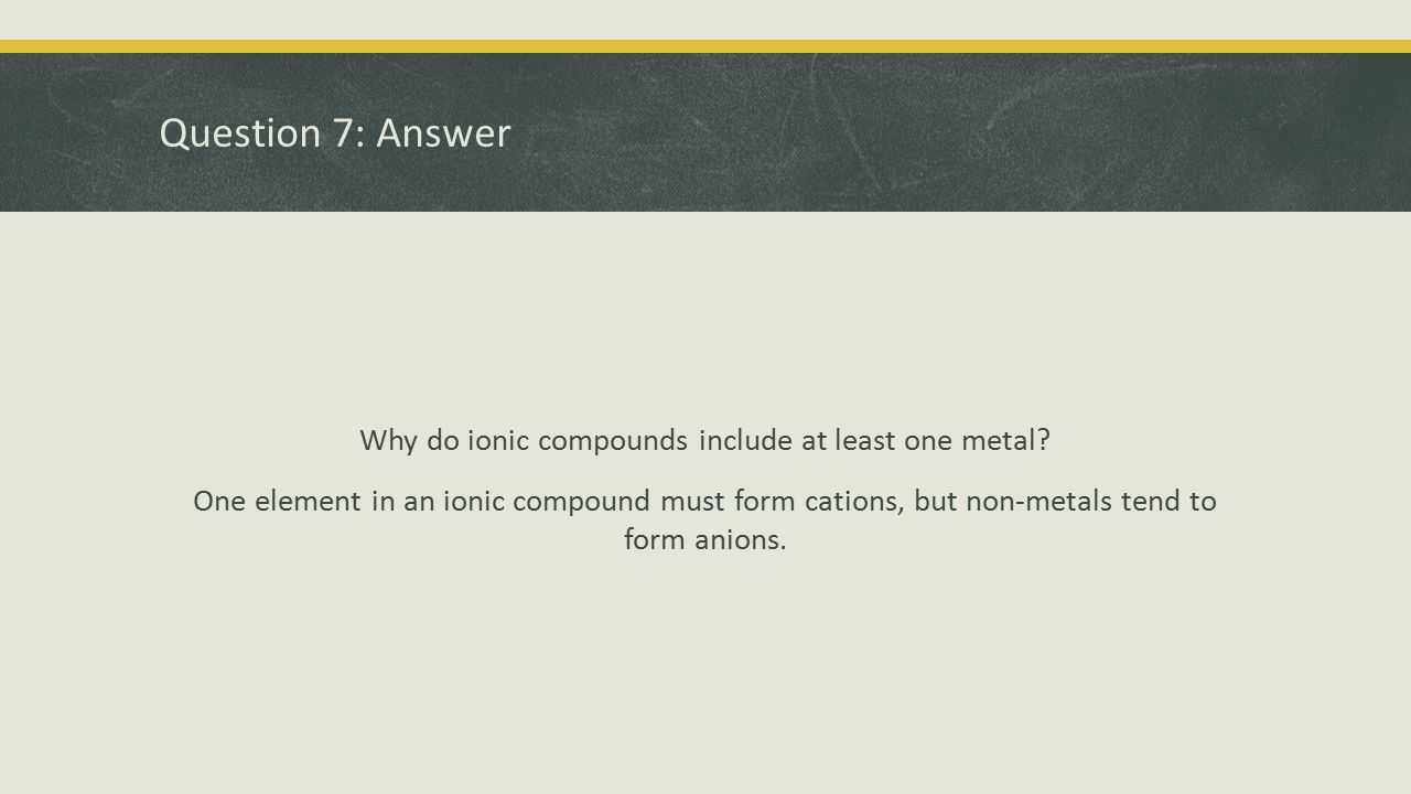 Question 7: Answer