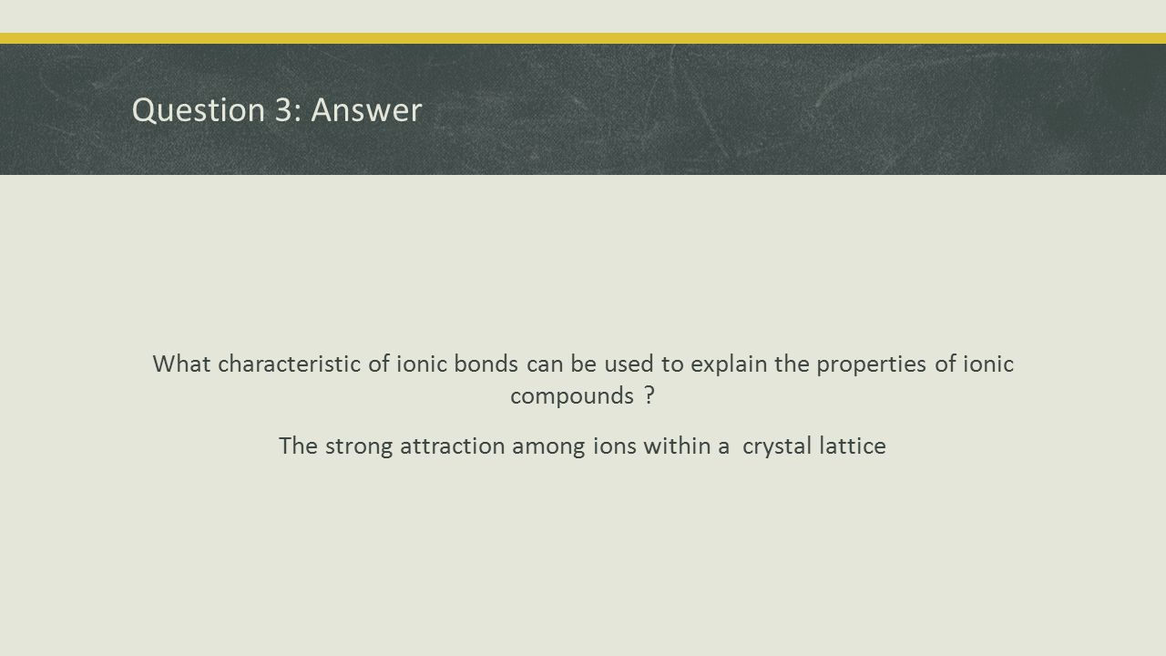 Question 3: Answer