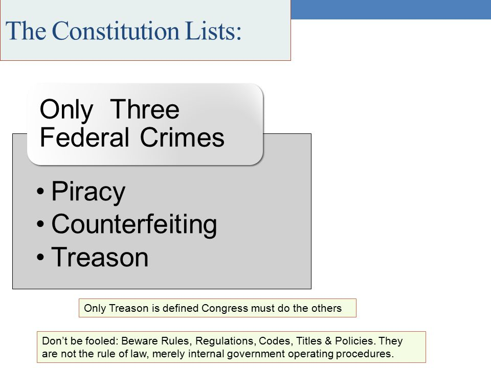 The Constitution Lists: