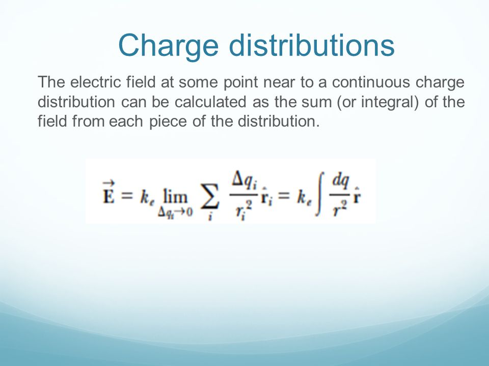 Charge distributions