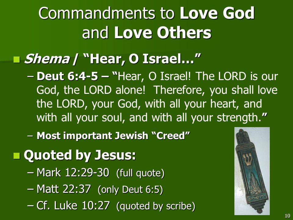 Commandments to Love God and Love Others