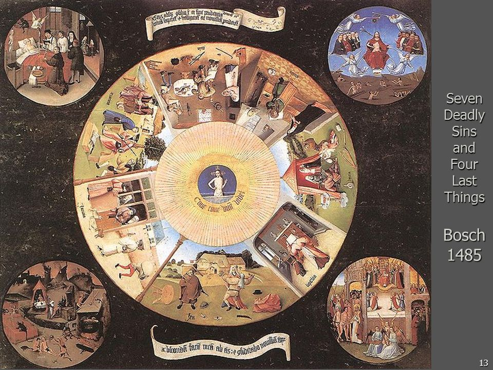Seven Deadly Sins and Four Last Things Bosch 1485