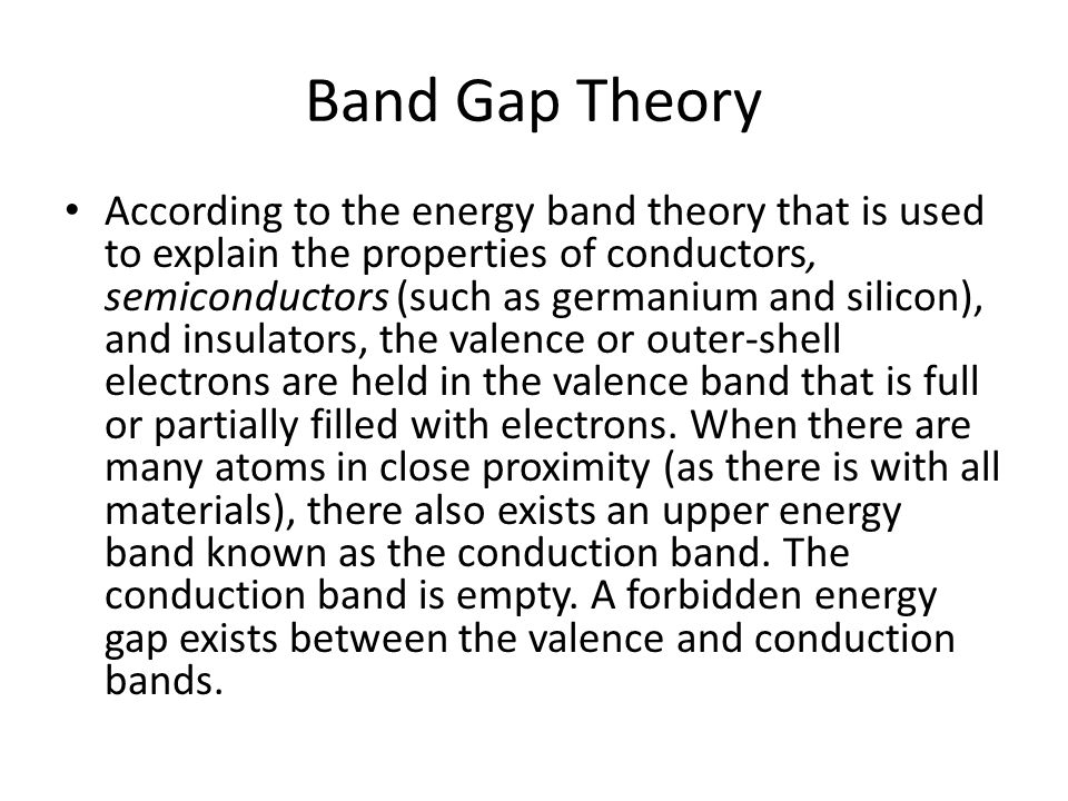 Band Gap Theory