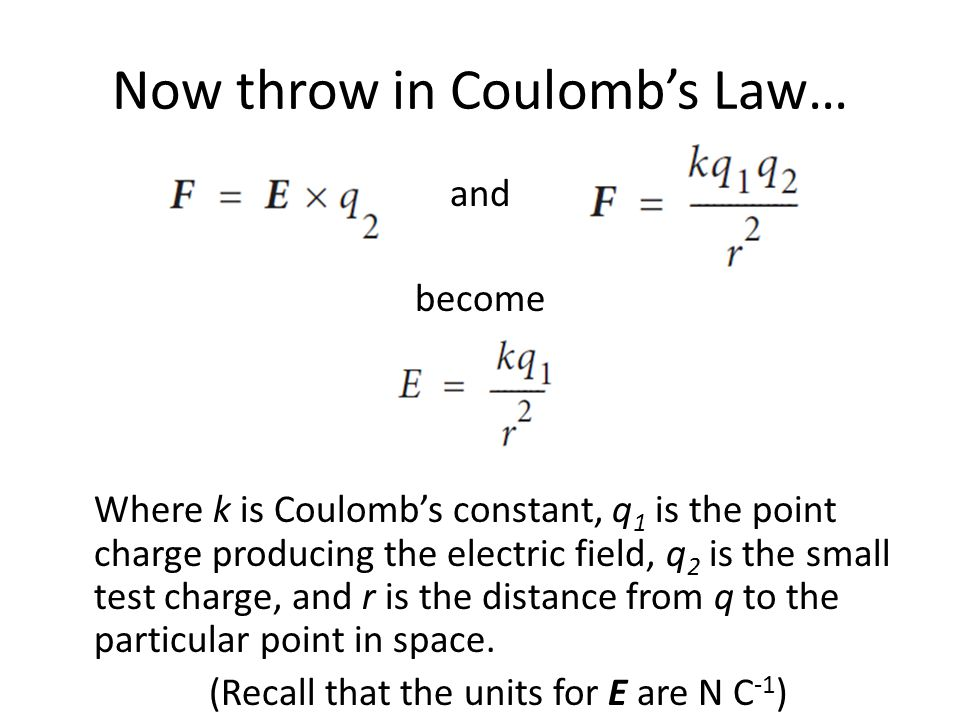 Now throw in Coulomb's Law…