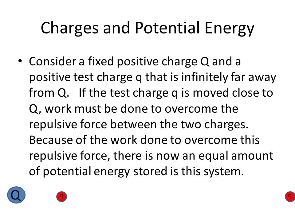 Charges and Potential Energy