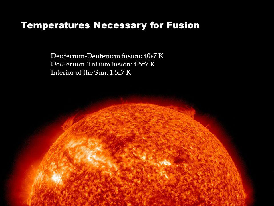 Temperatures Necessary for Fusion