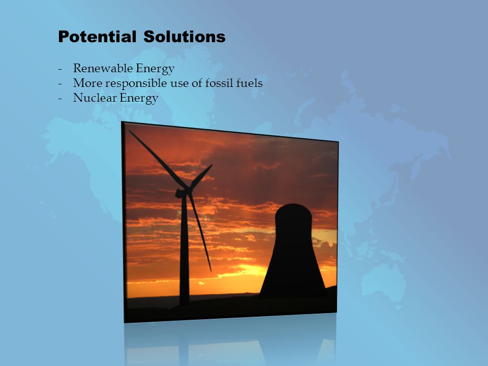 Potential Solutions Renewable Energy