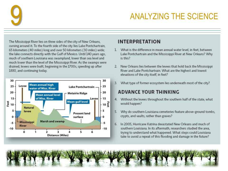 9 ANALYZING THE SCIENCE