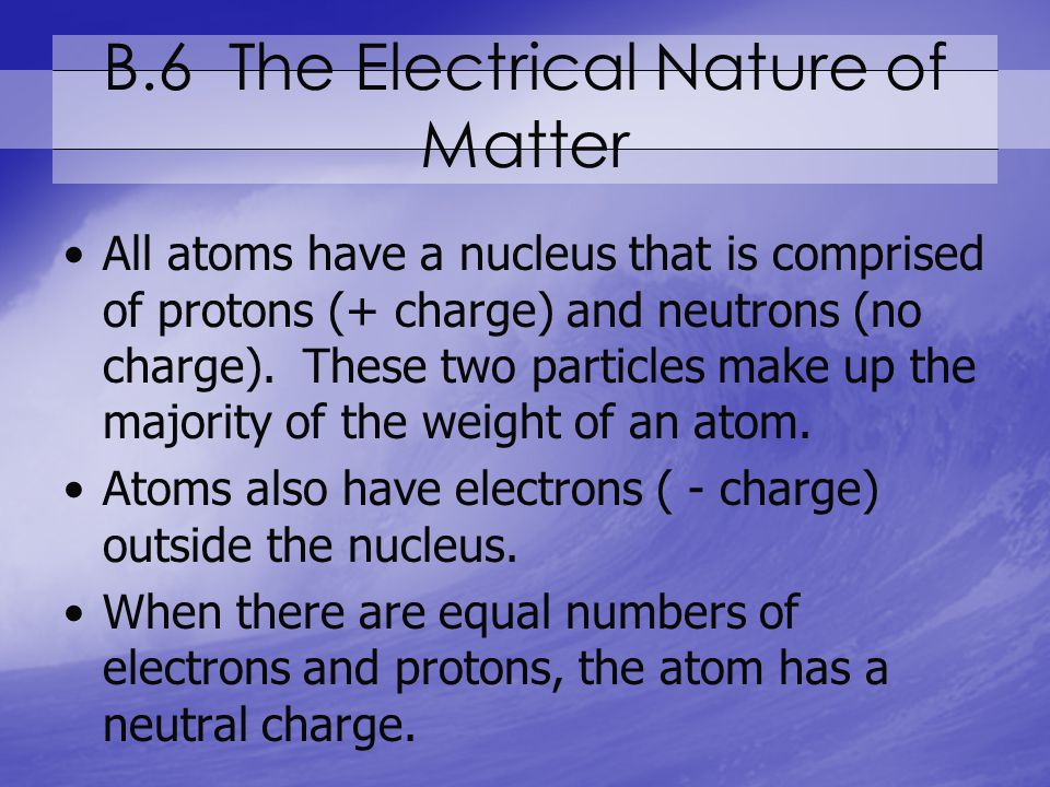 B.6 The Electrical Nature of Matter