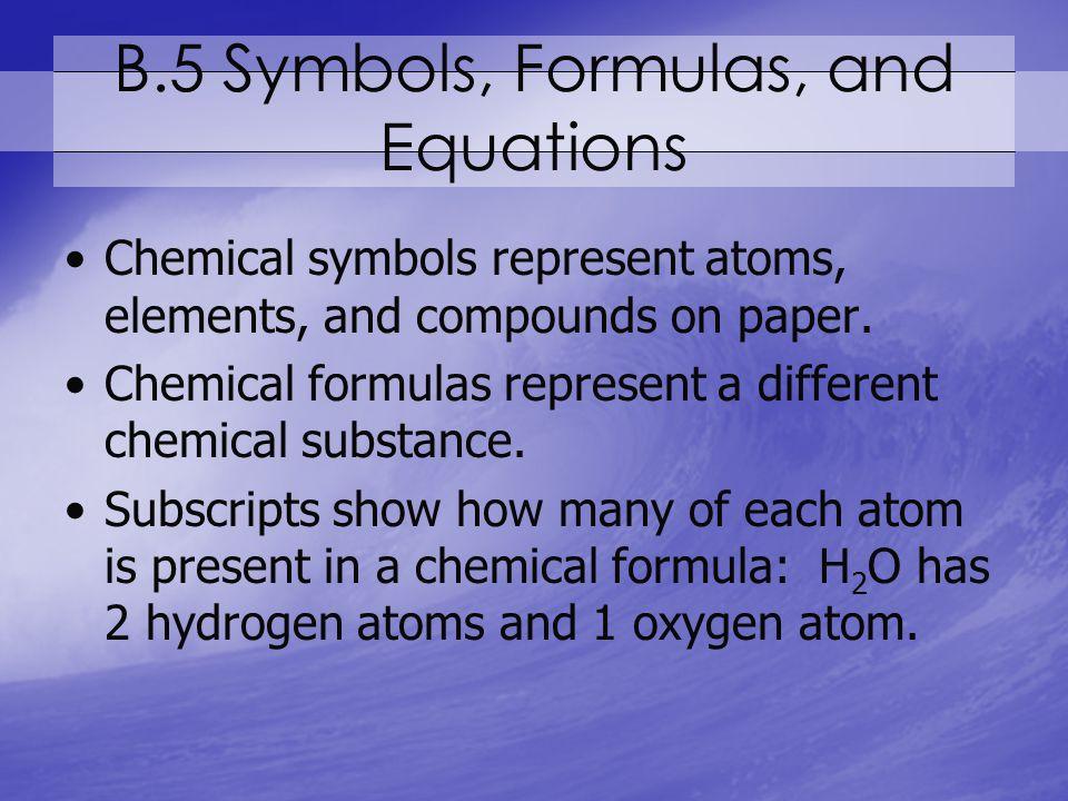 B.5 Symbols, Formulas, and Equations