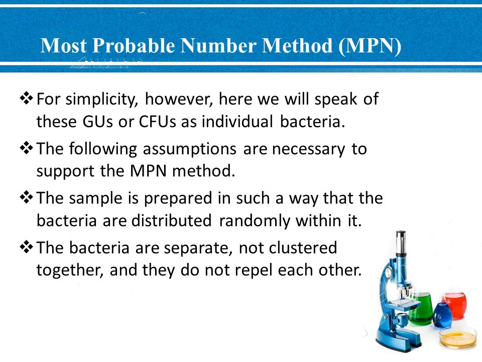 Most Probable Number Method (MPN)