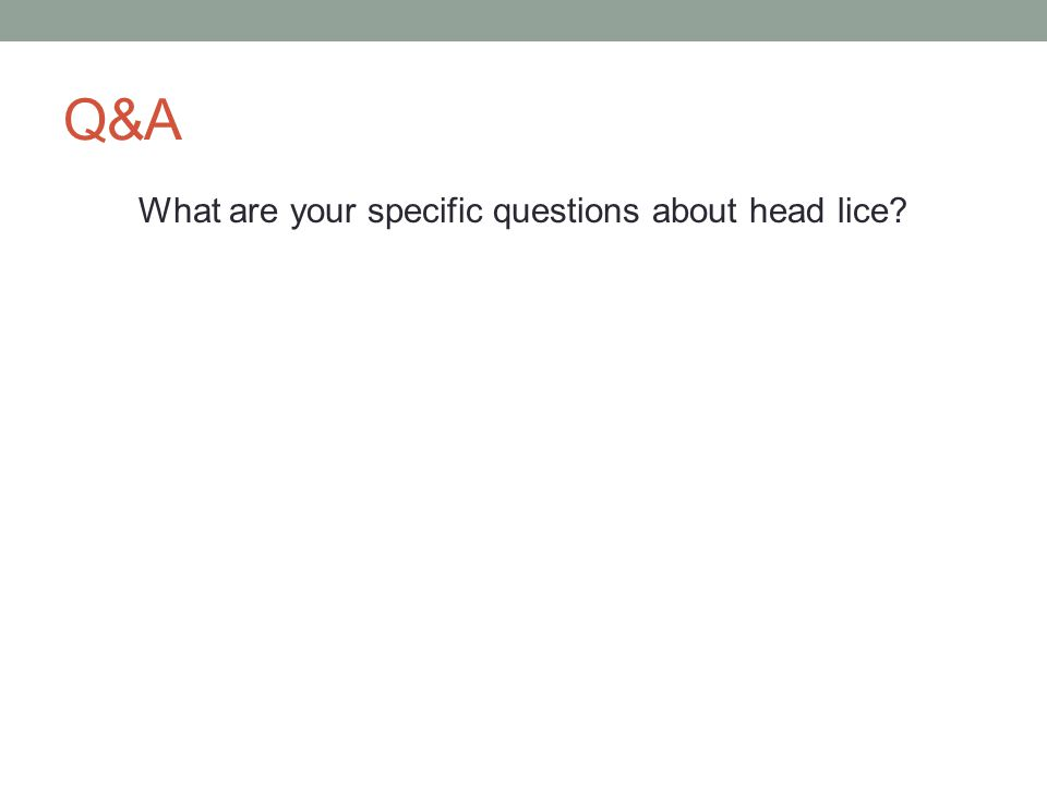 What are your specific questions about head lice