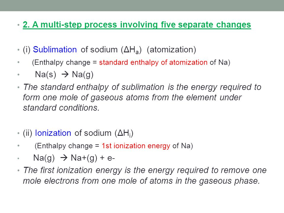 2. A multi-step process involving five separate changes