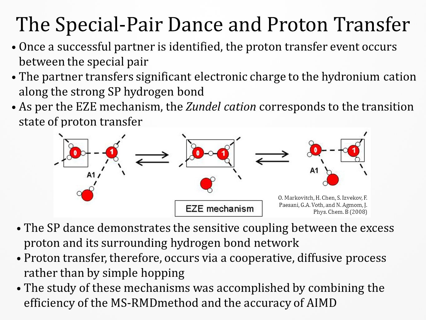 The Special-Pair Dance and Proton Transfer