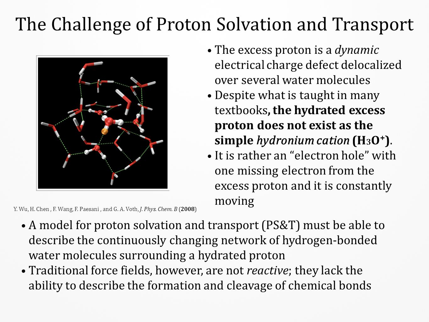 The Challenge of Proton Solvation and Transport