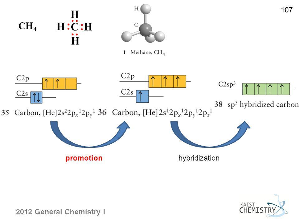 107 CH4 promotion hybridization
