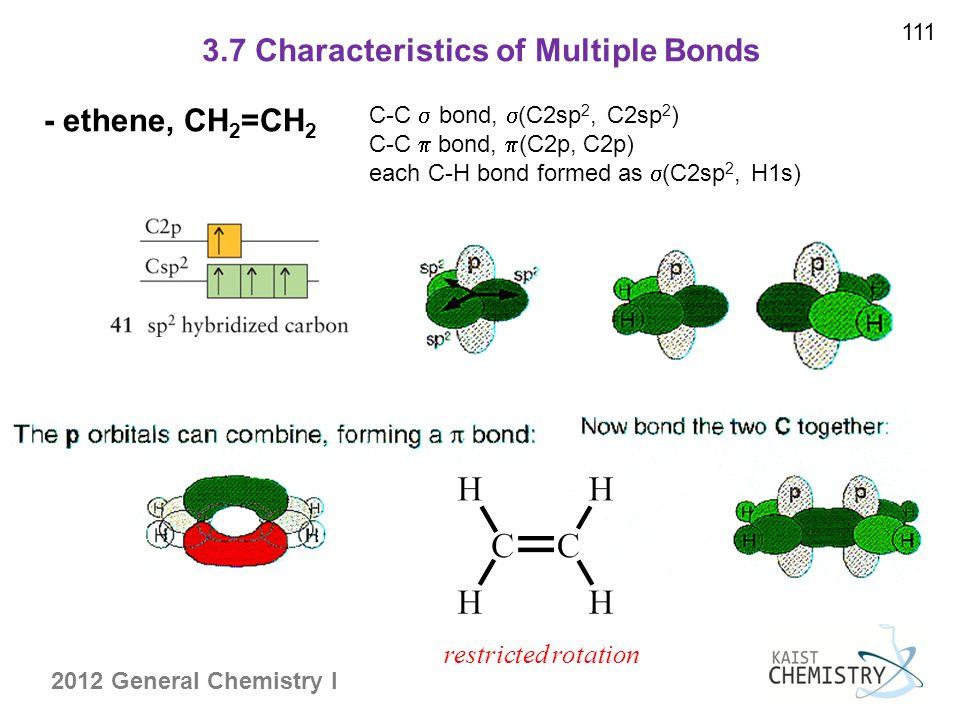 3.7 Characteristics of Multiple Bonds