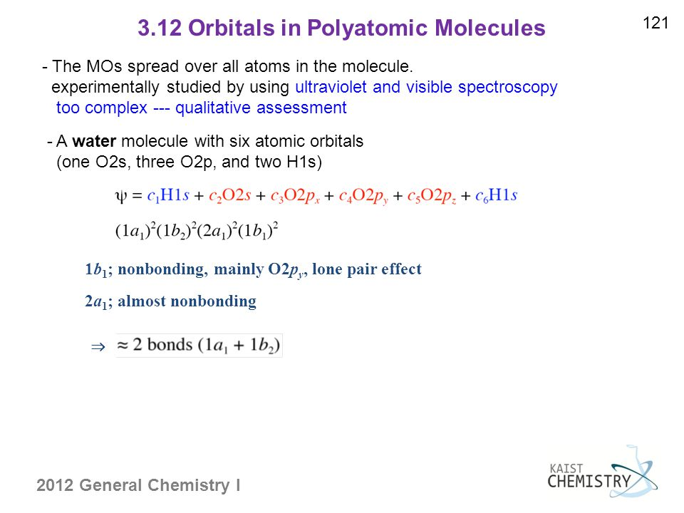 3.12 Orbitals in Polyatomic Molecules