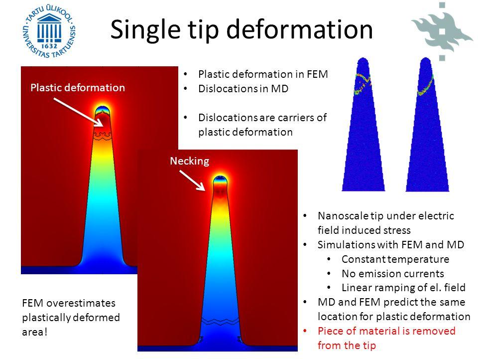 Single tip deformation