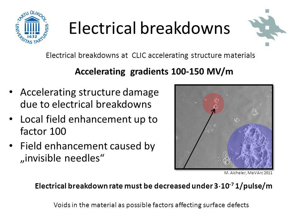 Electrical breakdowns