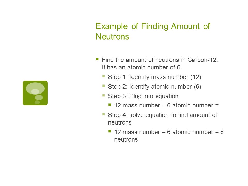 Example of Finding Amount of Neutrons