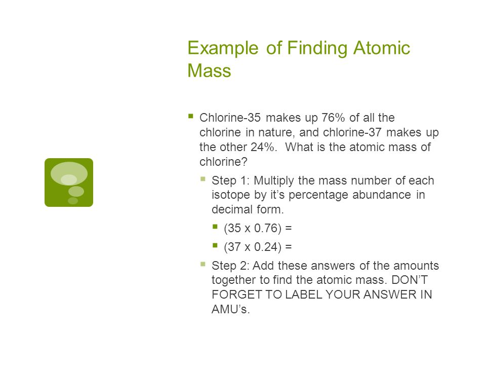 Example of Finding Atomic Mass