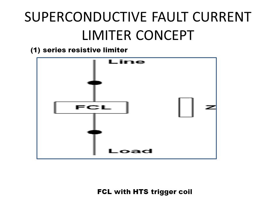 SUPERCONDUCTIVE FAULT CURRENT LIMITER CONCEPT