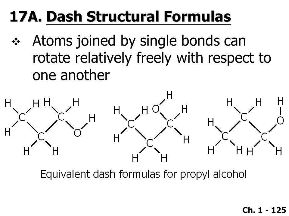 17A. Dash Structural Formulas