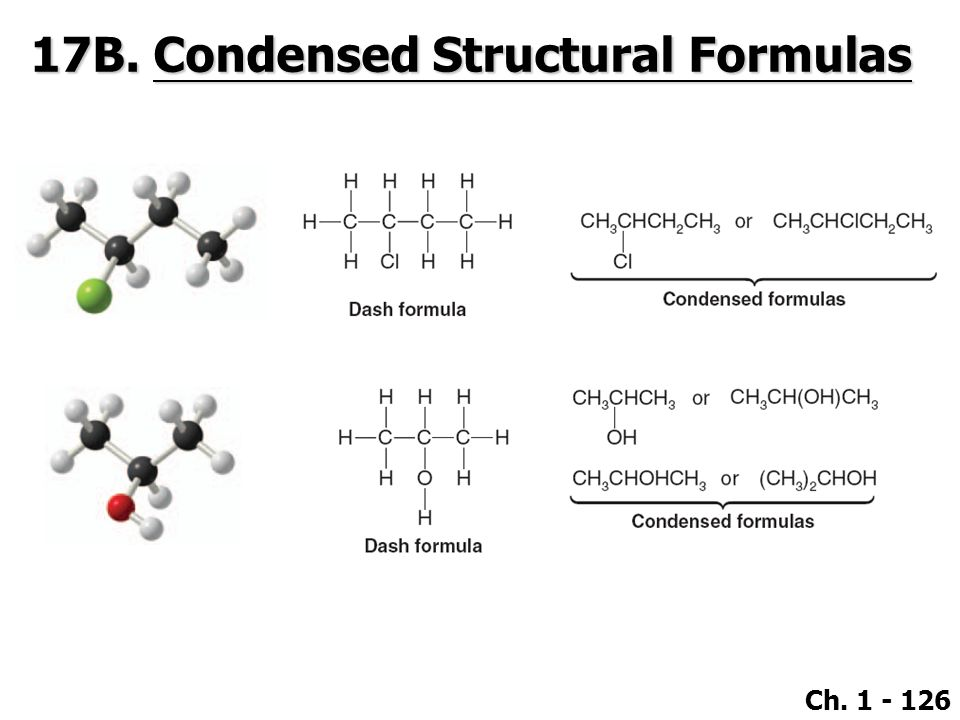 17B. Condensed Structural Formulas
