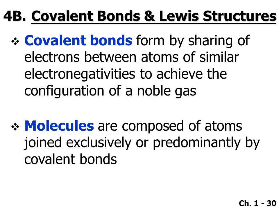 4B. Covalent Bonds & Lewis Structures