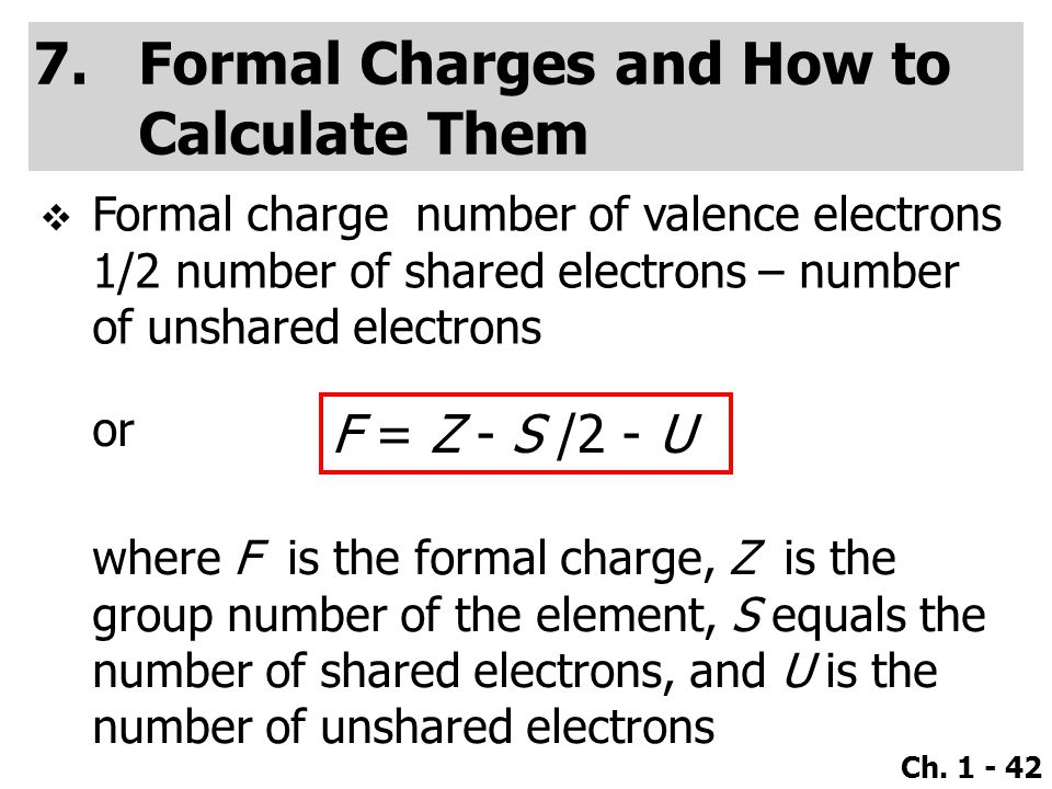 Formal Charges and How to Calculate Them