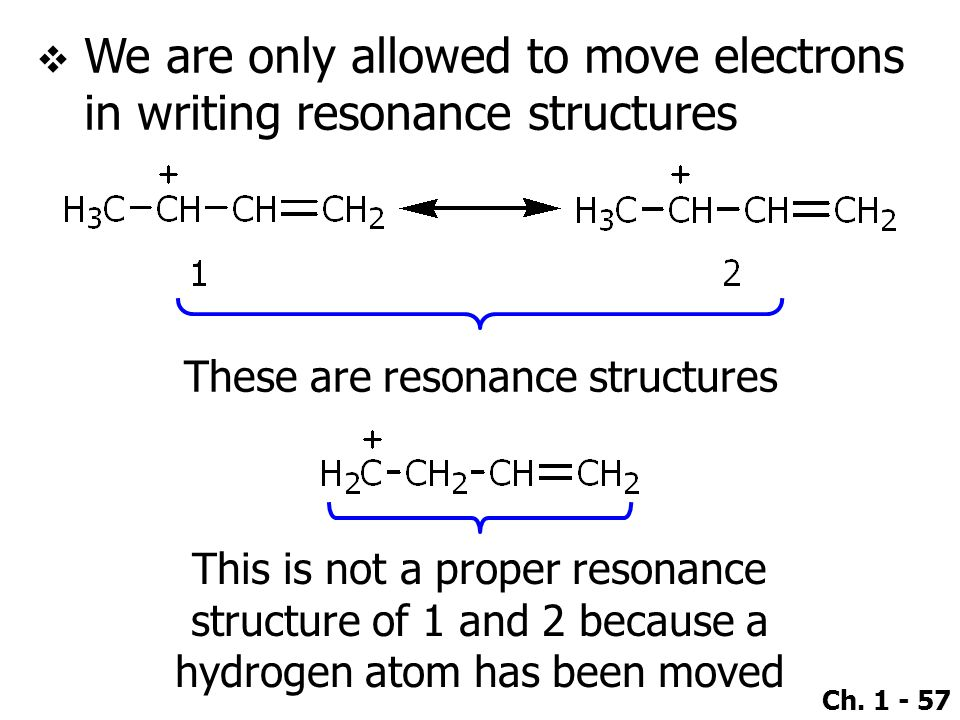 We are only allowed to move electrons in writing resonance structures