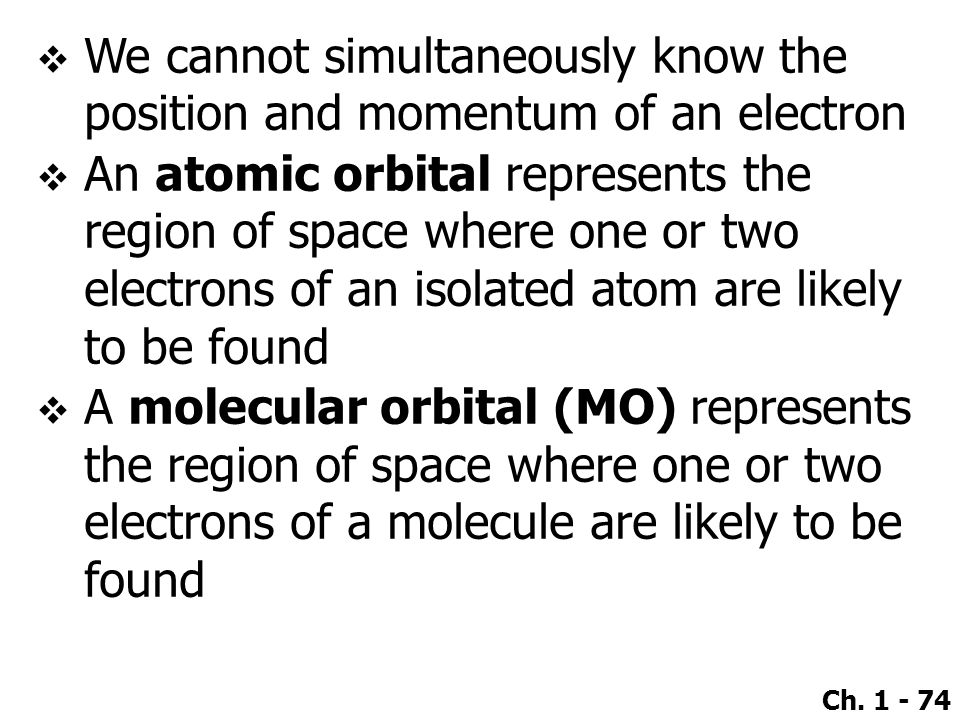We cannot simultaneously know the position and momentum of an electron
